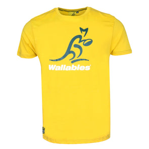 Australia Rugby Wallabies Kid's Large Logo T-shirt | Yellow | 2019/20 Season