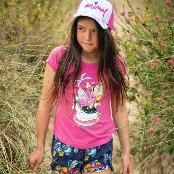 Animal Girls Inflatables T-shirt | Raspberry Rose Marl