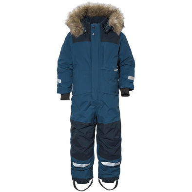 Didriksons Polarbjornen Kids Snowsuit | Hurricane Blue