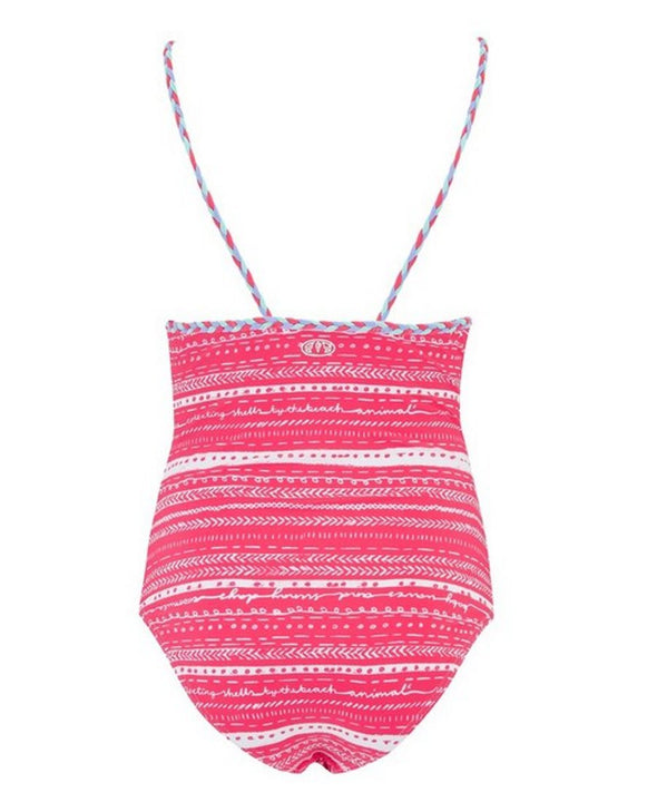 Animal Pheebs Girl's Swimsuit - Pink