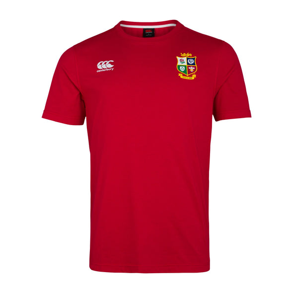 Canterbury British & Irish Lions Rugby Cotton Jersey Tee | Mens | Red | 2021