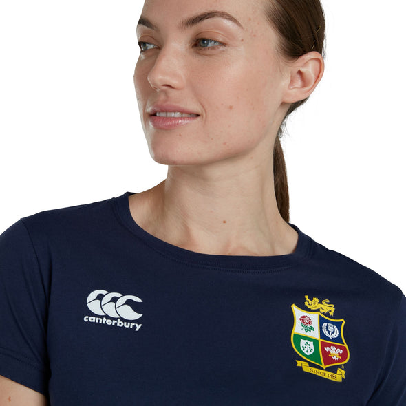 Canterbury British & Irish Lions Rugby Cotton Jersey Tee | Womens | Blue | 2021