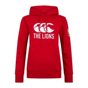 Canterbury British & Irish Lions Rugby Logo Hoodie | Womens | Tango Red | 2021
