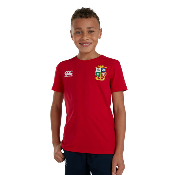 Canterbury British & Irish Lions Rugby Cotton Jersey Tee | Junior | Red | 2021
