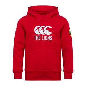 Canterbury British & Irish Lions Rugby Logo Hoodie | Junior | Tango Red | 2021
