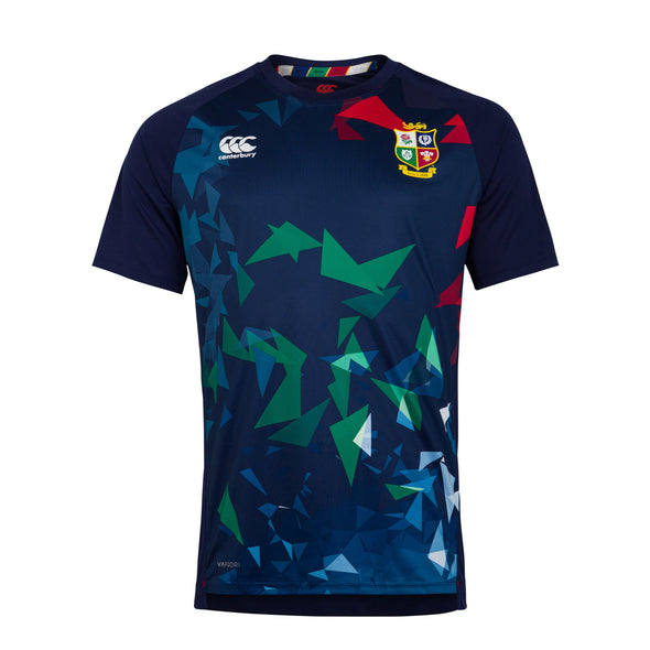 Canterbury British & Irish Lions Rugby Superlight Graphic Tee | Mens | Peacoat Blue | 2021
