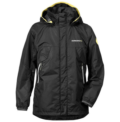 Didriksons Vivid Boys/Kids Waterproof Jacket - Black