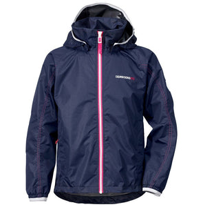 Didriksons Vivid Girls/Kids Waterproof Jacket - Navy