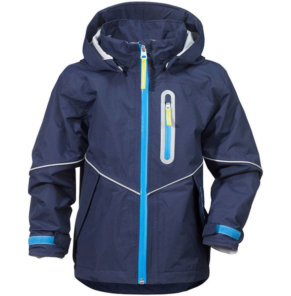 Didriksons Pani Kids Waterproof Jacket - Navy