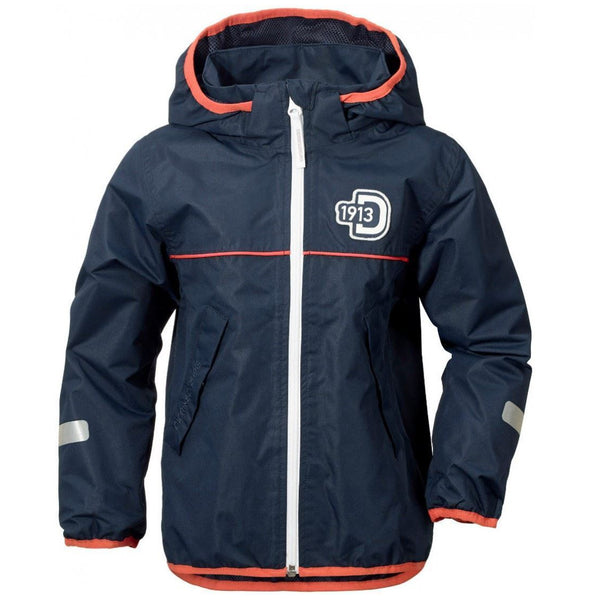 Didriksons Kids Viskan Waterproof Jacket - Navy