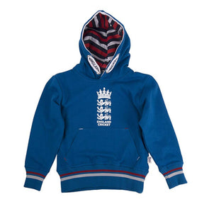 Red ECB England Cricket Kids Classic 1877 Hoodie Official ECB Product