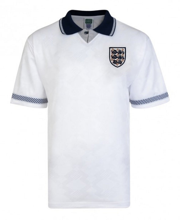 Official England Football Adult 1990 World Cup Finals Retro Home Shirt