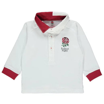 England RFU Rugby Baby Long Sleeved Rugby Shirt | White | 2019/20