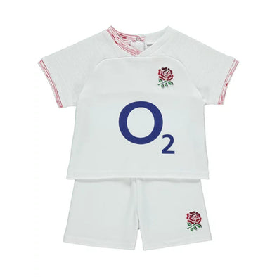 England RFU Rugby Baby/Toddler T-Shirt & Shorts Set | White | 2019/20