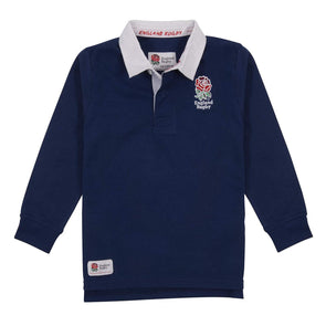 England RFU Rugby Kids Long Sleeve Rugby Shirt | Navy