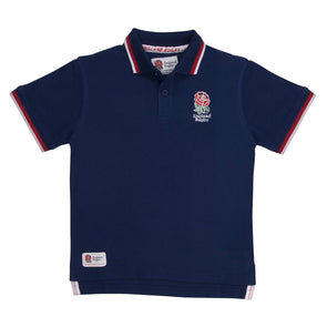 England RFU Rugby Kids Pique Polo Shirt | Navy