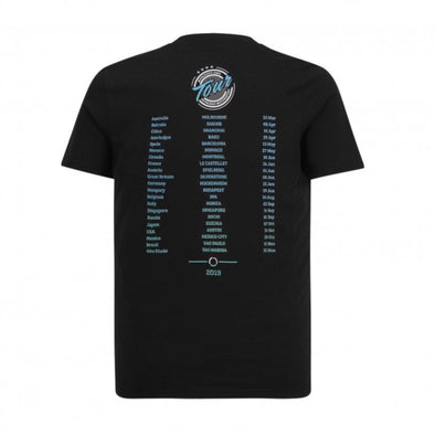 Mercedes AMG Petronas Men's Tour T-Shirt | Black | 2019