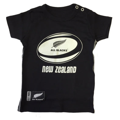 New Zealand All Blacks Rugby Baby/Toddler Ball T-shirt