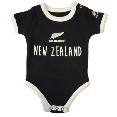 New Zealand All Blacks Rugby Baby Bodysuit