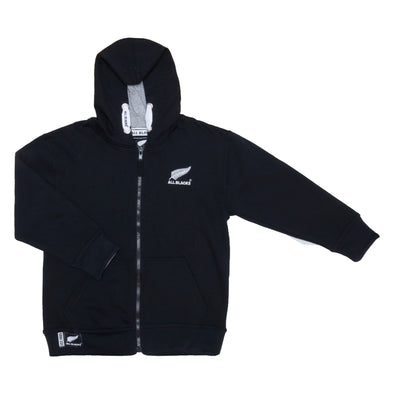 New Zealand All Blacks Rugby Kids Full Zip Hoodie