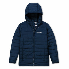 Columbia Powder Lite Boys Hooded Jacket | Collegiate Navy