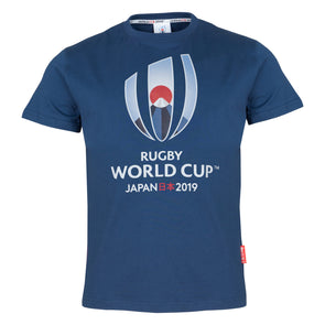 Rugby World Cup 2019 Mens Large Logo T-Shirt | Navy