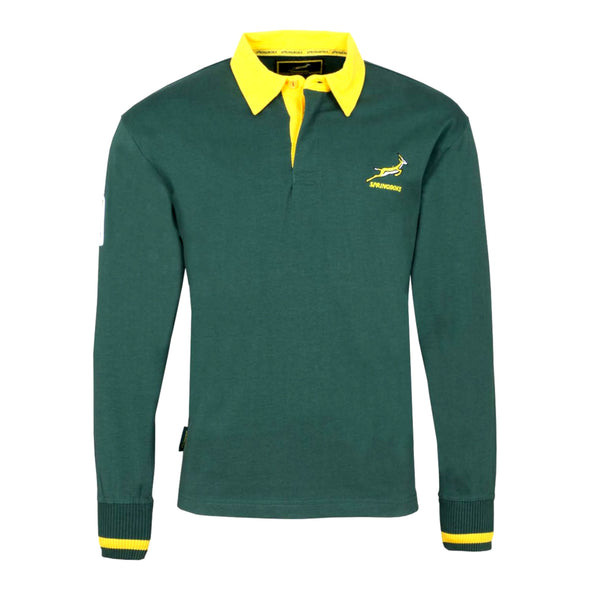 South Africa Rugby Springboks Kid's Long Sleeved Rugby Shirt | Green | 2019/20 Season