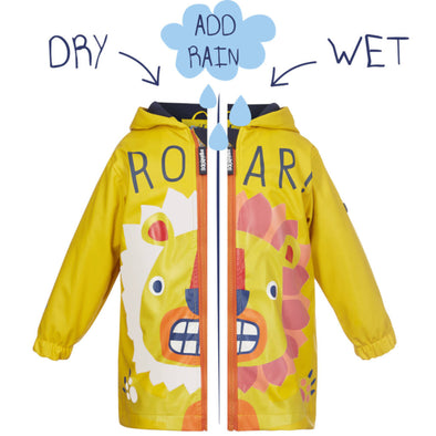 Squidkids Kids' Lion Colour Changing Waterproof Raincoat