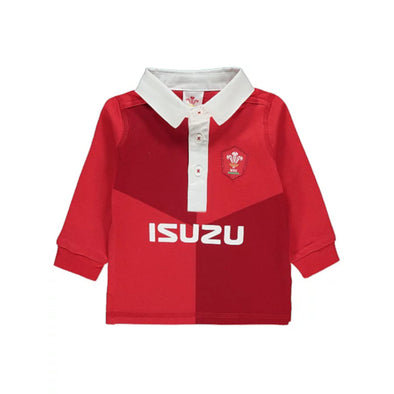 Wales WRU Rugby Baby Kit Long Sleeved Shirt | Red | 2019/20