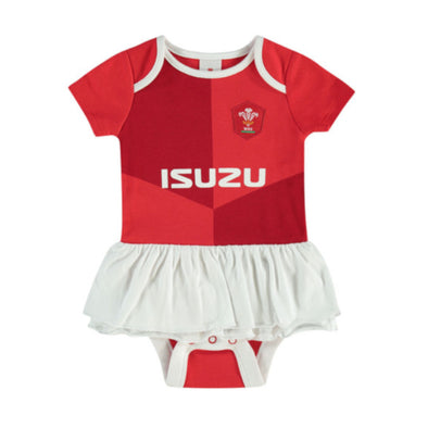 Wales WRU Rugby Baby Girls Tutu Bodysuit | Red | 2019/20