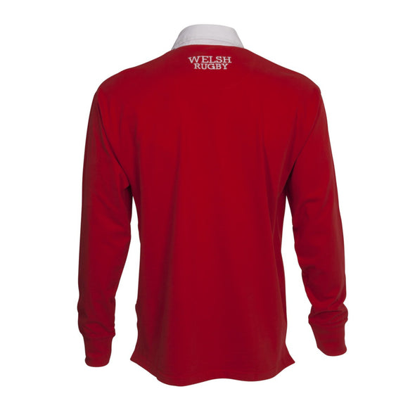 Wales WRU Rugby Kids Long Sleeved Rugby Shirt | Red
