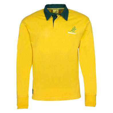 Australia Rugby Wallabies Kid's Long Sleeved Rugby Shirt | Yellow | 2019/20 Season