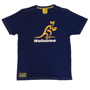 Australia Rugby Wallabies Men's Large Logo T-Shirt | Navy | 2019/20 Season