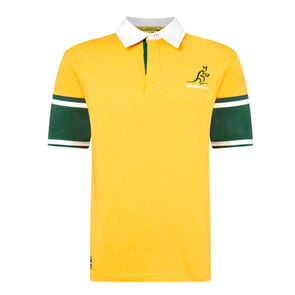 Australia Rugby Wallabies Men's Short Sleeved Rugby Shirt | Yellow | 2019/20 Season