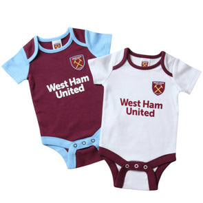West Ham United Baby Kit 2 Pack Bodysuits | 2019/20 Season