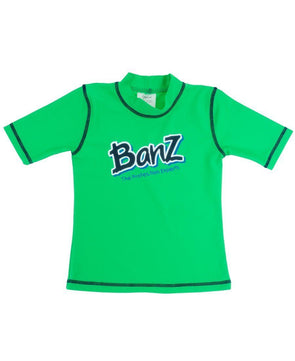Banz Kids UV Short Sleeved Rash Top | Lime Green