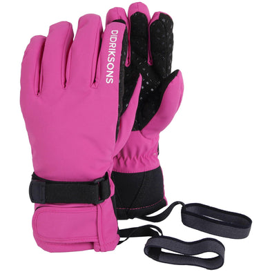 Didriksons Five Youth Waterproof Gloves | Pink