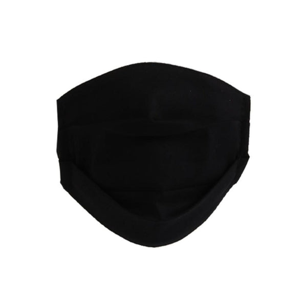 Reusable Pleated Cotton Face Mask | Black