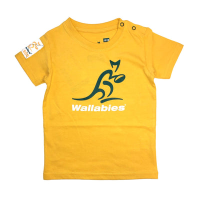 Australia Rugby Wallabies Baby Large Logo T-shirt | Yellow | 2019/20 Season