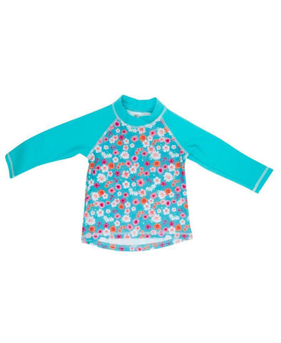 Banz Girls UV Long Sleeved Rash Top | Flowers