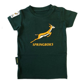 South Africa Rugby Springboks Baby Large Logo T-shirt | Green | 2019/20 Season