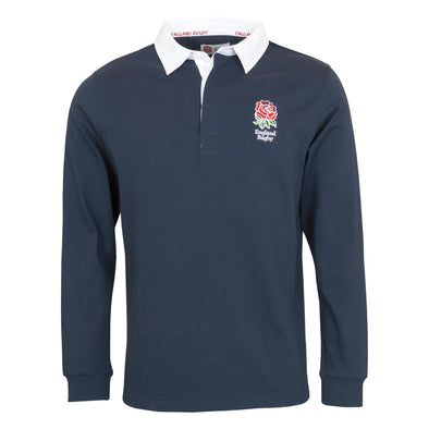 England RFU Rugby Mens Long Sleeve Rugby Shirt | Navy