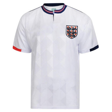 Official England Football Men's 1989 Retro Home Shirt | White