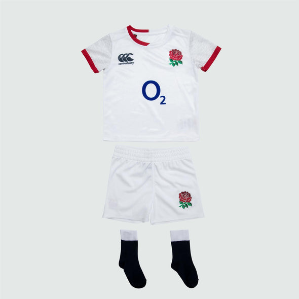 Canterbury England RFU Rugby Infant Home Pro Mini Kit | White | 2019