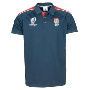 Rugby World Cup 2019 England Men's Panel Poly Polo | Navy