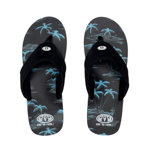 Animal Mens Jekyl AOP Flip Flops | Black