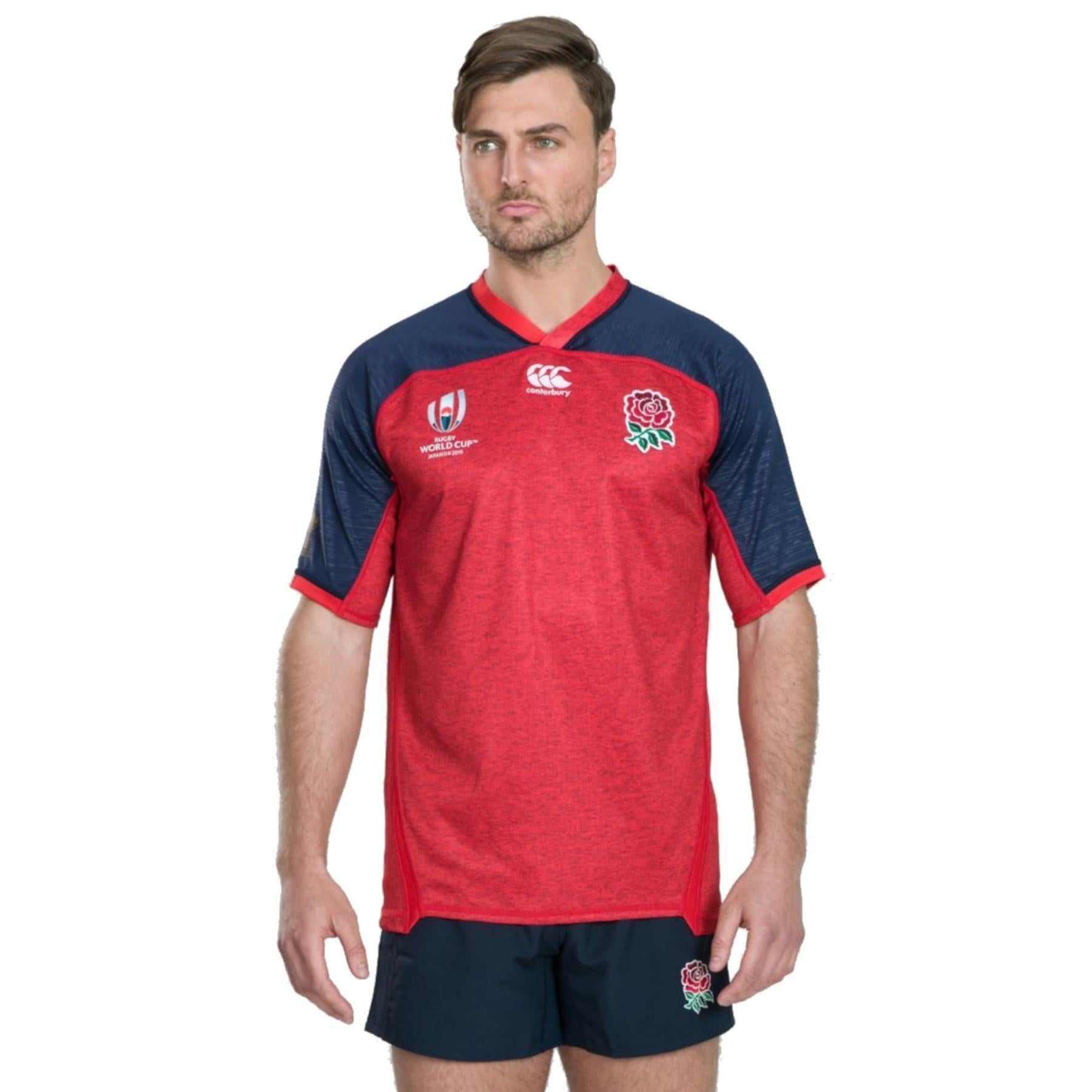 Canterbury Rugby World Cup 2019 England Away Pro Shirt | Union Red