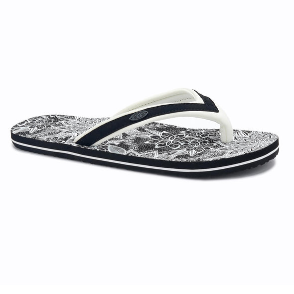 Animal Womens Swish Slim AOP Flip Flops | Black