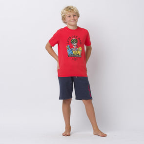 Animal Kids Get Rad T-shirt | Watermelon Red