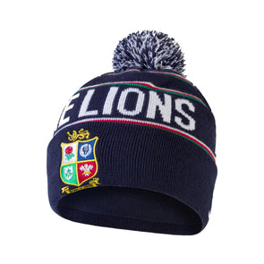 Canterbury British & Irish Lions Rugby Bobble Hat | Peacoat Blue | 2021 | Adult